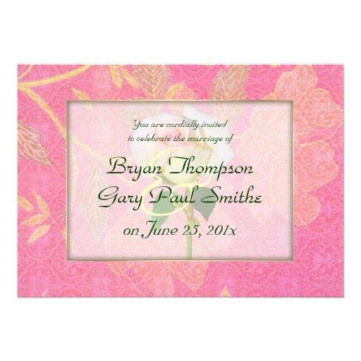 Chinoiserie WEDDING Personalized Invite