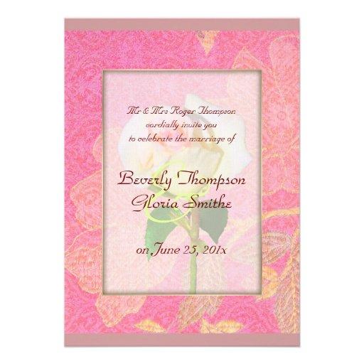 Chinoiserie WEDDING Custom Announcement