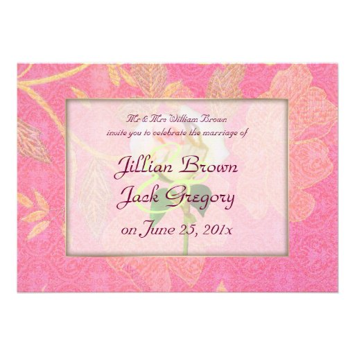Chinoiserie WEDDING Custom Announcements