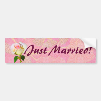 "Chinoiserie WEDDING ""Just Married"" Bumper Sticker"