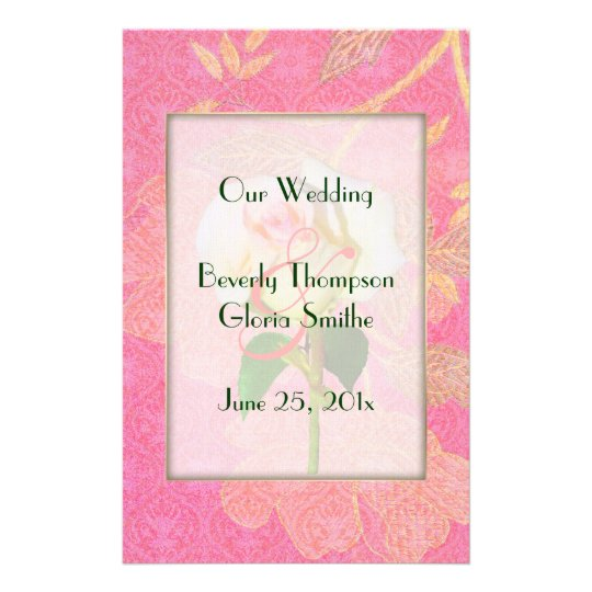 Chinoiserie WEDDING Program