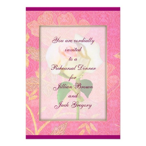 Chinoiserie WEDDING Rehearsal Dinner Custom Invite