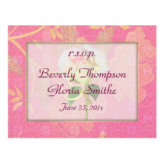 Chinoiserie Wedding RSVP Postcard