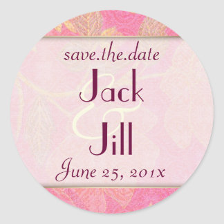 Chinoiserie WEDDING Save-the-Date Classic Round Sticker