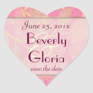 Chinoiserie WEDDING Save-the-Date Heart Sticker
