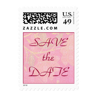 Chinoiserie WEDDING Save The Date Postage Stamp