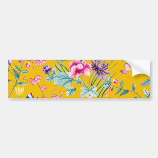 CHINOISERIE - YELLOW BASE BUMPER STICKER