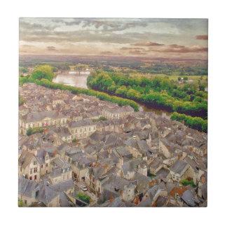 Chinon Provence Francia por el mac de Shawna Azulejo Cuadrado Pequeño