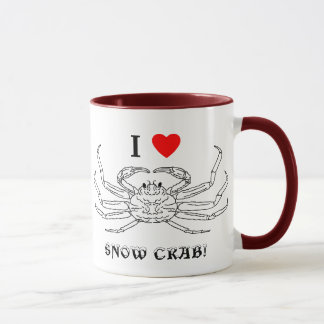 Chinonoecetes Opilio Crab Outline Mug