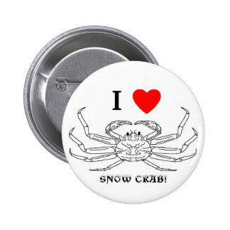 Chinonoecetes Opilio Crab Outline Pinback Button