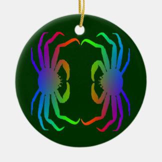 Chinonoecetes Opilio Crab Silhouette Ceramic Ornament