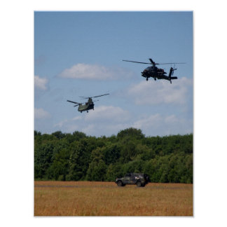 Chinook, Apache, Jeep Poster