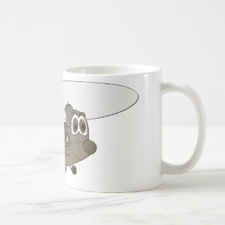 Chinook Helicopter Cartoon Coffee Mug
