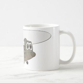 Chinook Helicopter Cartoon Coffee Mug