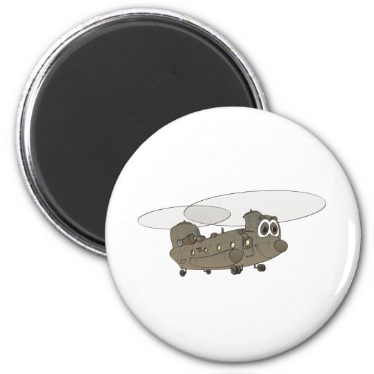 Chinook Helicopter Cartoon Magnet