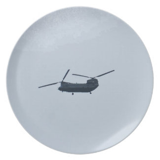 Chinook Helicopter Party Plate