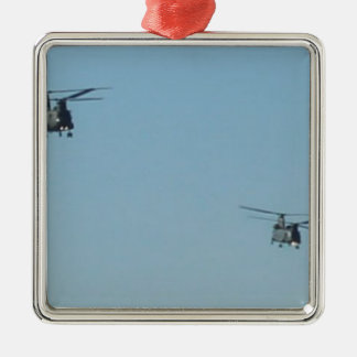 Chinook Helicopters Metal Ornament