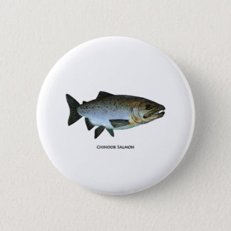 Chinook - King Salmon Pinback Button
