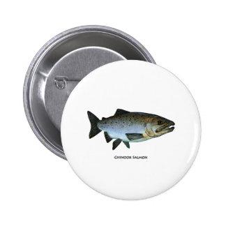 Chinook - King Salmon Pinback Button