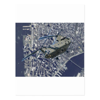 CHINOOK OVER NEW YORK POSTCARD