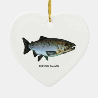 Chinook - rey salmón ornaments para arbol de navidad