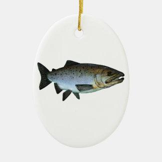 Chinook - rey salmón ornamento para arbol de navidad