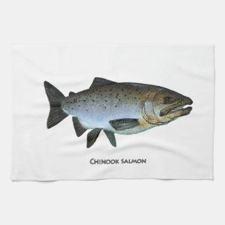 Chinook - rey salmón toalla de mano