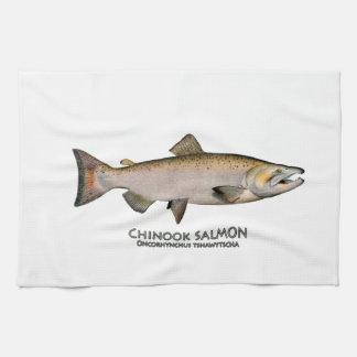 Chinook - rey salmones (que frezan fase) toalla