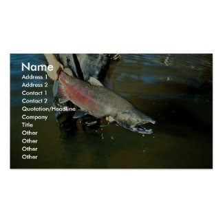 Chinook Salmon Business Card Template