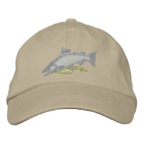 Chinook Salmon Embroidered Baseball Hat