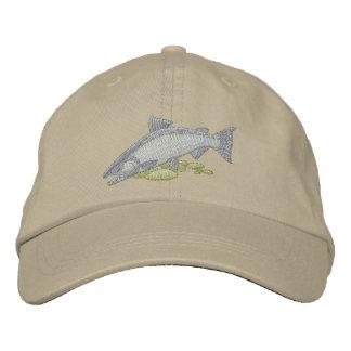 Chinook Salmon Embroidered Baseball Caps