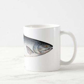 Chinook/taza de café de los pescados de rey salmón