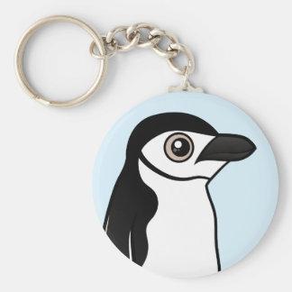 Chinstrap Penguin Basic Round Button Keychain
