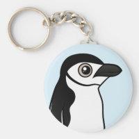 Chinstrap Penguin Basic Button Keychain