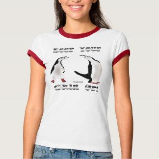 Chinstrap Penguin Ladies Ringer T-Shirt