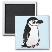 Chinstrap Penguin Square Magnet