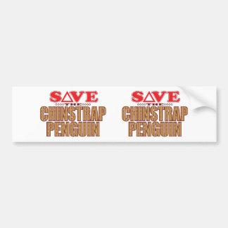 Chinstrap Penguin Save Bumper Sticker