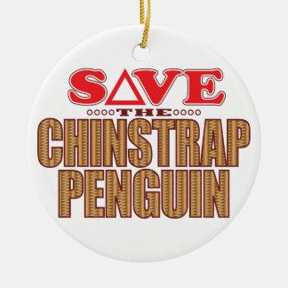 Chinstrap Penguin Save Ceramic Ornament