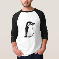 Chinstrap Penguin Men's Basic 3/4 Sleeve Raglan T-Shirt
