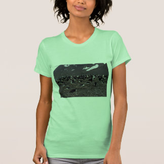 Chinstrap Penguins Nesting Colony T Shirt