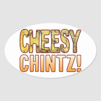 Chintz Blue Cheesy Oval Sticker