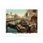 Chioggia, fish market, Venice, Italy 1890's Postcard