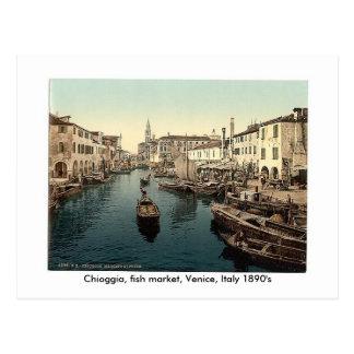Chioggia, fish market, Venice, Italy 18... Postcard