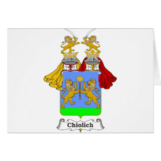 Chiolich Family Hungarian Coat of Arms Card