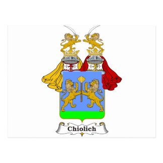 Chiolich Family Hungarian Coat of Arms Postcard