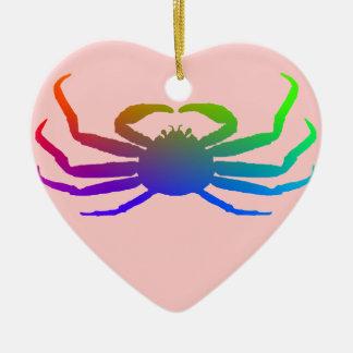 Chionoecetes Opilio Crab Silhouette Ceramic Ornament