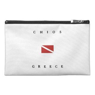Chios Greece Scuba Dive Flag Travel Accessory Bag