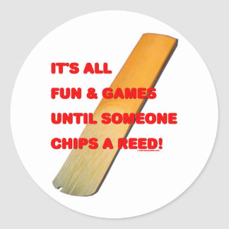 Chip A Reed Classic Round Sticker