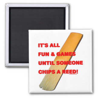 Chip A Reed 2 Inch Square Magnet