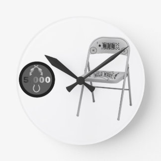 Chip and a Chair Round Wall Clock
